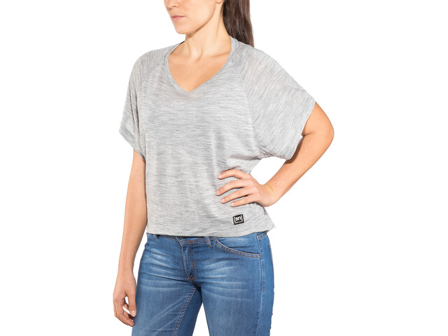 super.natural Motion Peyto Camiseta Mujer, ash melange